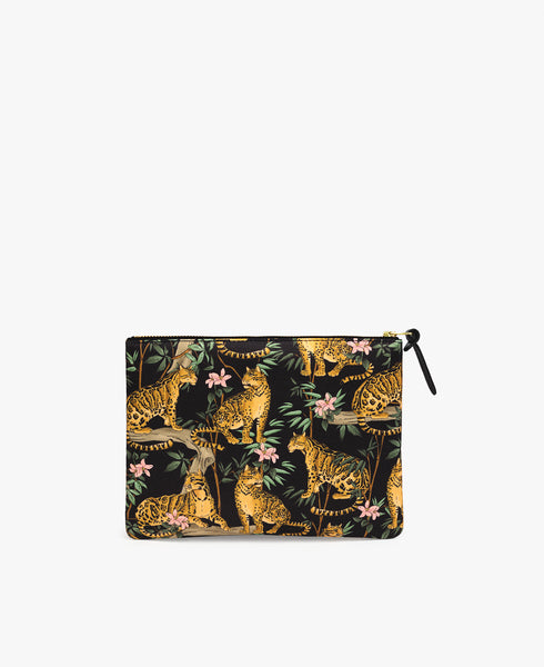 Black Lazy Jungle Large Pouch
