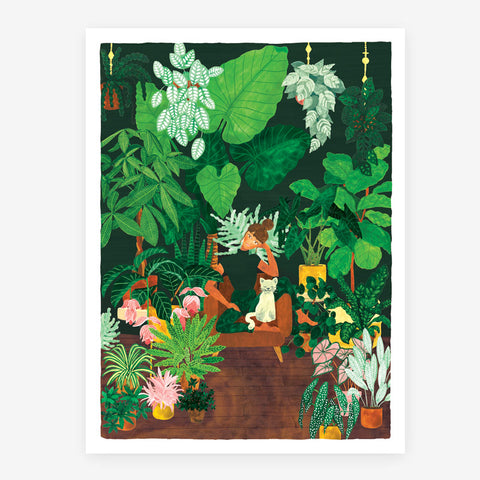 Plant Addict Lady A3 Poster