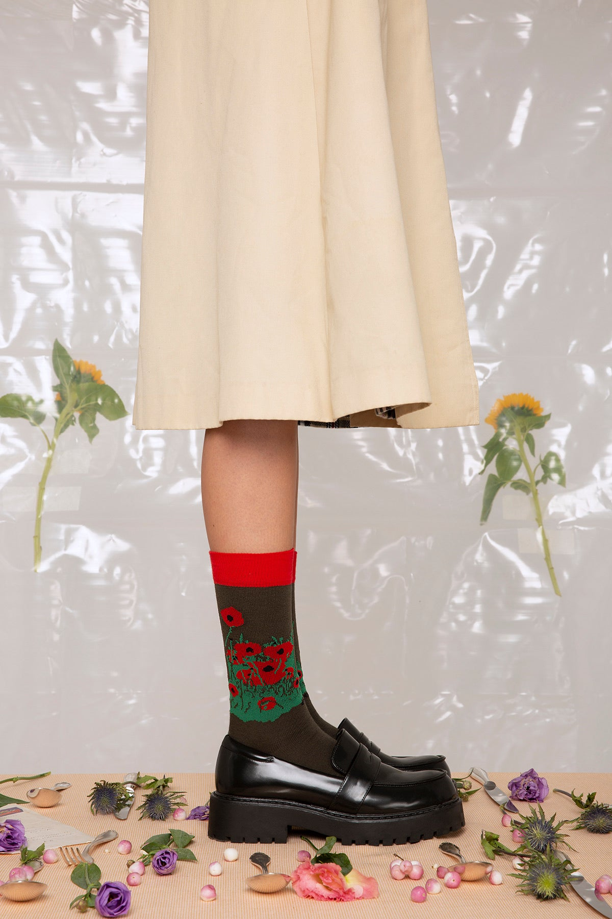 Red Poppy Socks
