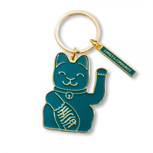 Lucky Cat Keyring (Green)