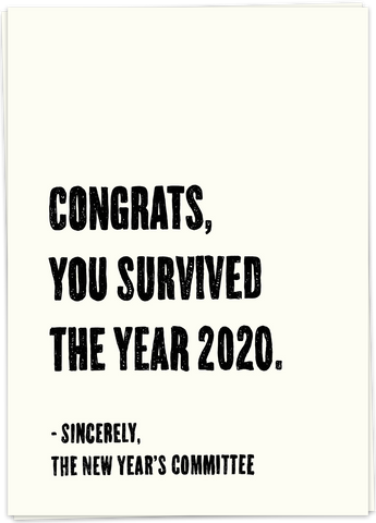 Survived 2020 Card