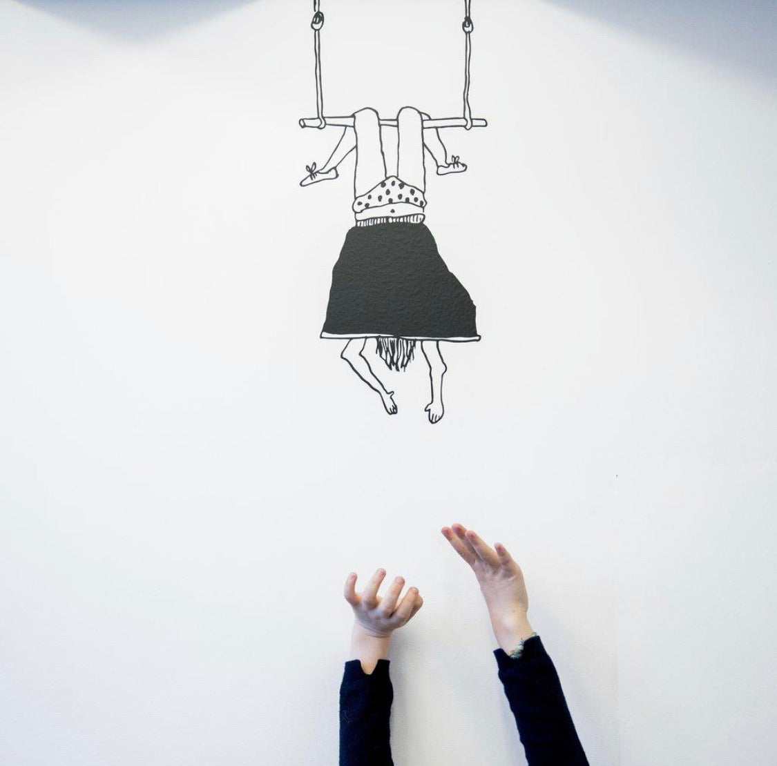 Trapeze Girl Wall Sticker