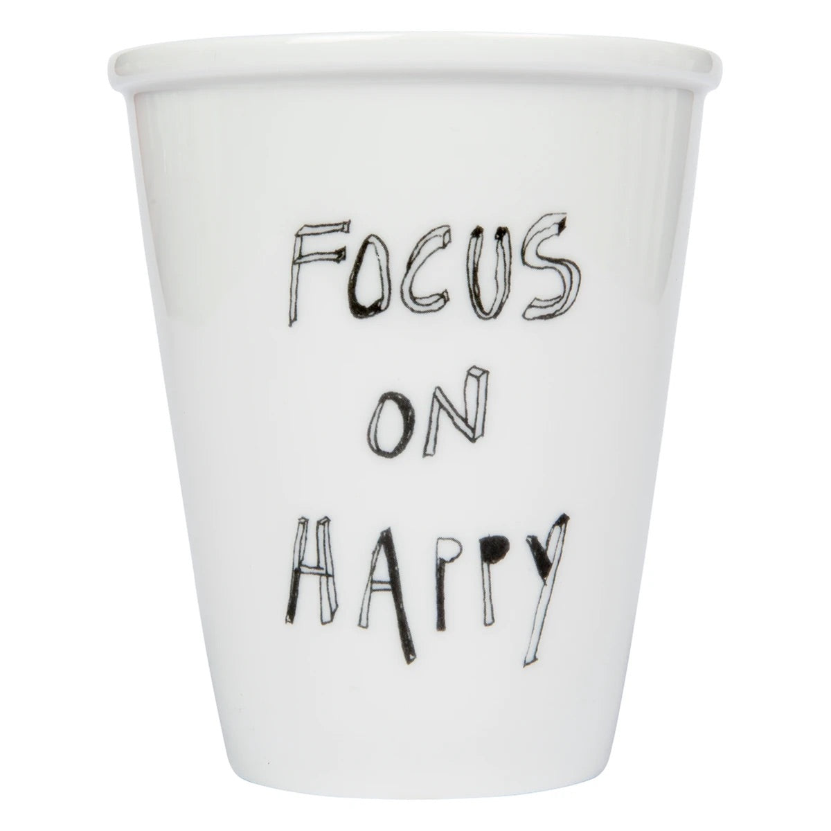 Focus on happy cup