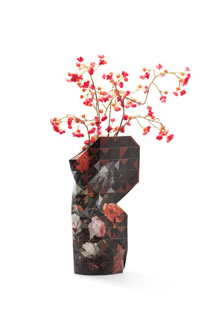 Large Paper Vase Cover - Still life with flowers