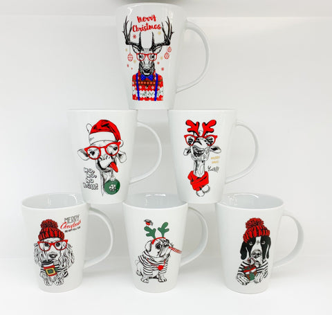 Christmas Zoo Mugs