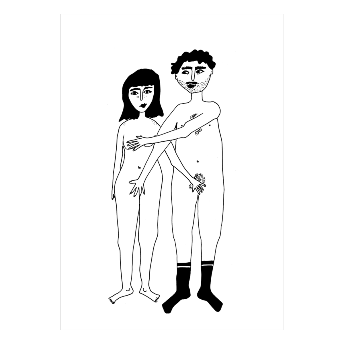 Naked Couple Front Card