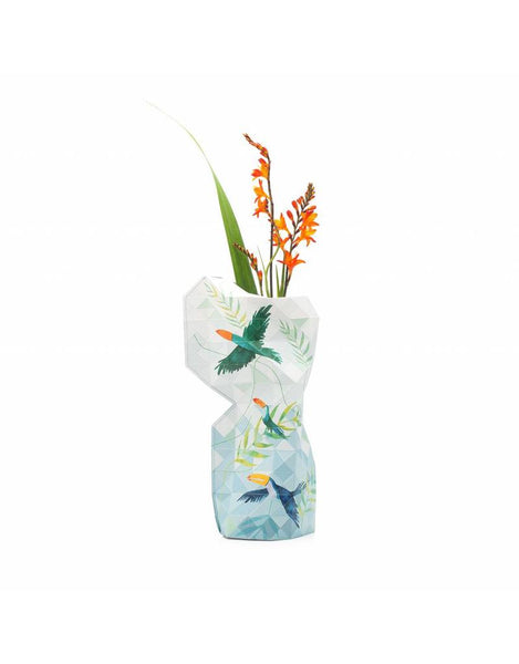 Large Paper Vase Cover - Toucan