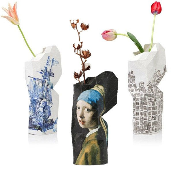Large Paper Vase Cover Girl with a Pearl Earring