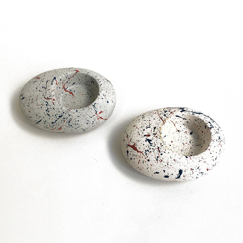 Speckled Pebble Tea-light Holder