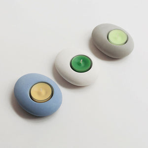 Pebble Tea-light Holder