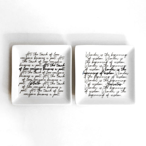 Calligraphy Quotes Small Square Tray