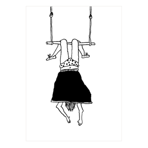 Happy birthday trapeze girl Greeting card