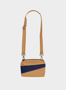 Bum/Shoulder Bag Camel + Navy