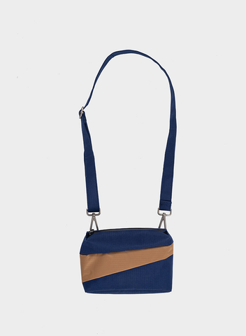 Bum/Shoulder Bag Navy + Camel
