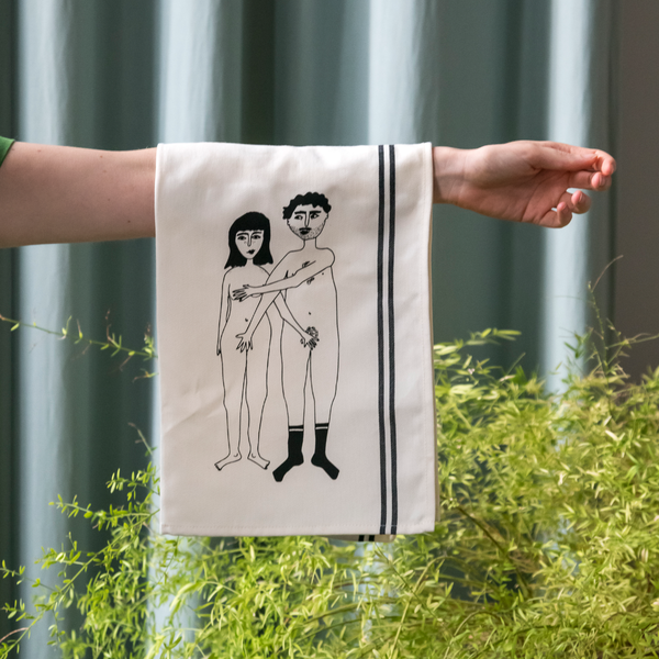 Tea Towel Naked Couple Back/Front