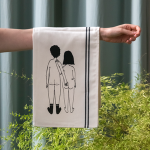 Tea Towel Naked Couple Back - BACK 26/1