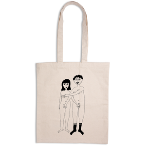 Tote Bag Naked Couple Front