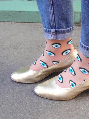 Transparent Eye Socks