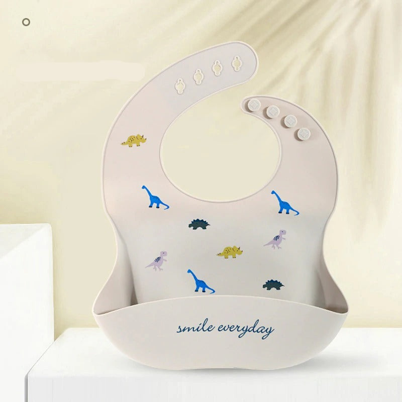 Cartoon Print Soft Silicone Baby Bibs