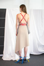 Load image into Gallery viewer, Draped Wrap Skirt / Sand