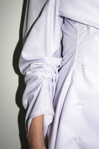 Double Breasted Blouse Dress / Lilac Check