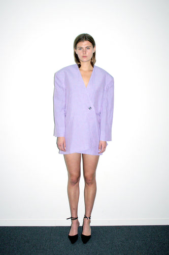 Draped Dropped Suit Jacket / Lilac