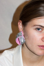Load image into Gallery viewer, Baroque Earrings / Cloudy Green