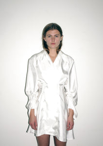 Double Breasted Blouse Dress / Ivory