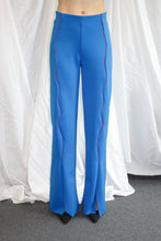 Load image into Gallery viewer, Fold Trousers / Cobolt Blue w Red Piping