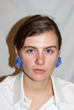 Load image into Gallery viewer, Small Baroque Earrings / Blue