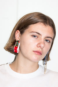 Folded Maxi Earring #2 / Red