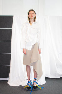Draped Wrap Skirt / Sand
