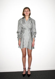 Double Breasted Blouse Dress / Prince of Wales Check