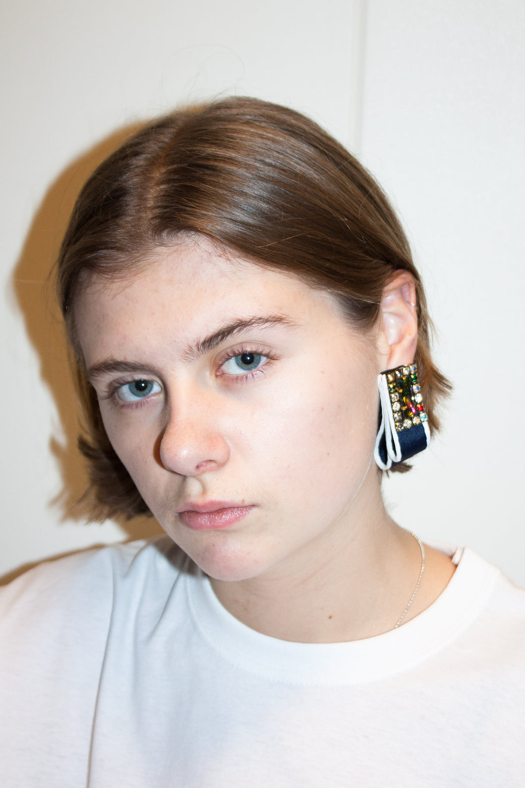 Folded Maxi Earring #2 / Navy