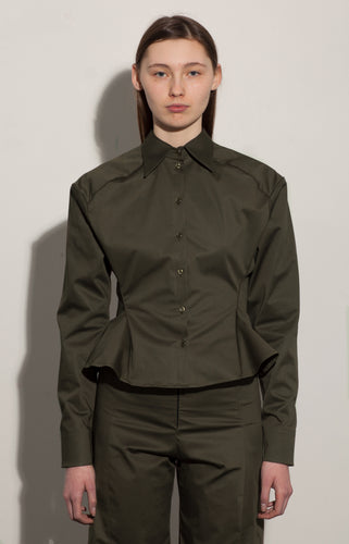 CINCHED SHIRT / CARGO GREEN