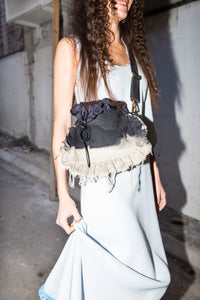 Large Fringe Denim Bag