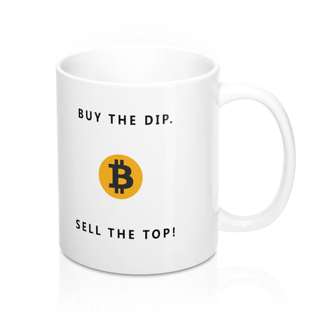 buy the dip bitcoin mug