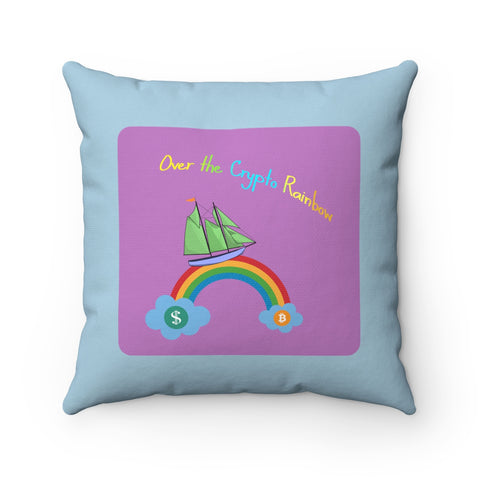 Over the Crypto Rainbow – Colorful Pillow