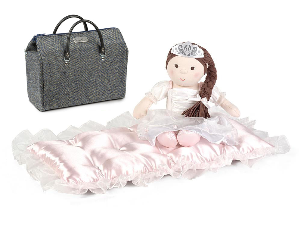 140th anniversary doll, mattress and black diaper bag set