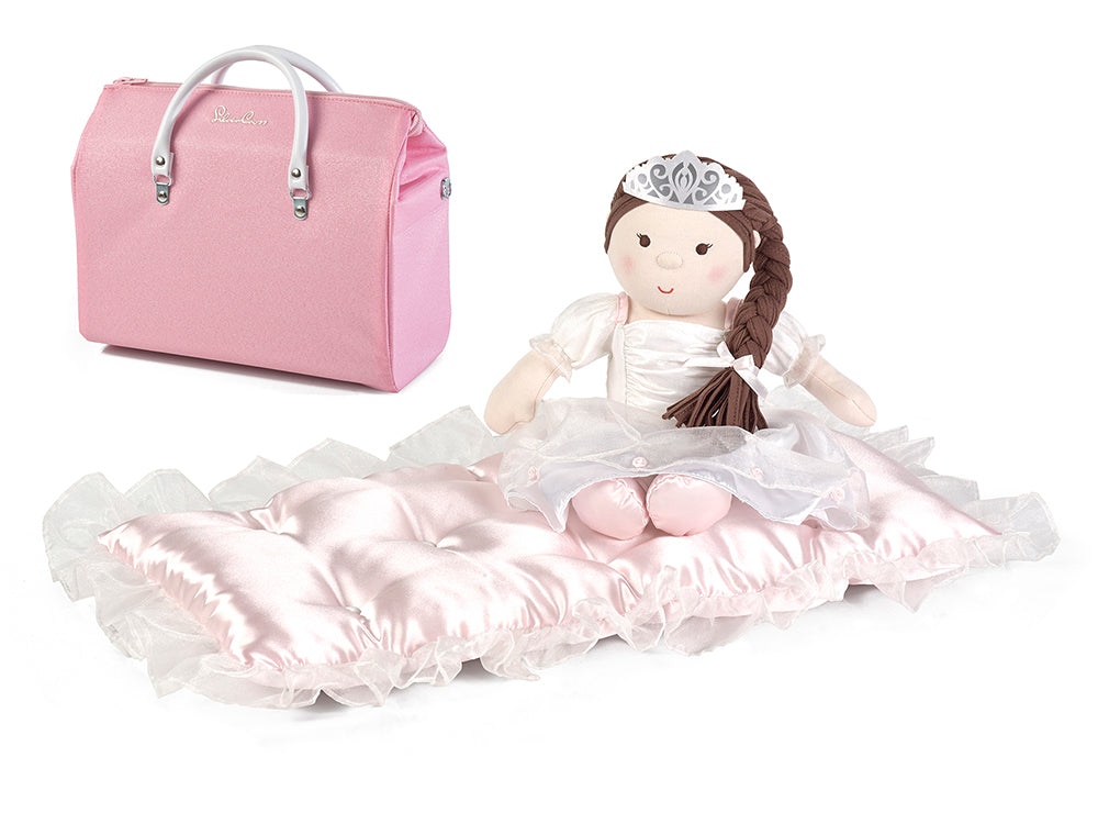 silver cross heritage doll, mattress and diaper bag set