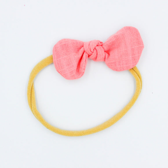 Melon Caroline Headband  - Mini Bow