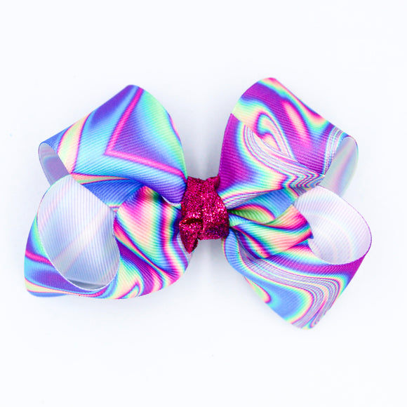 Holographic Glitter Knot - Small Bow