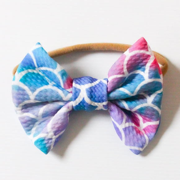 Mermaid Tail Emmi Headband  - Small Bow