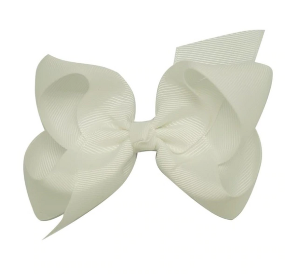 Classic White - Small Bow