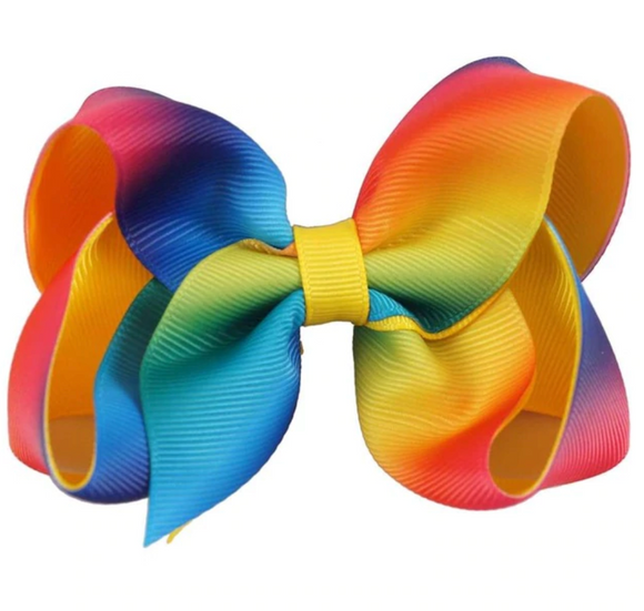 Rainbow Ombre - Small Bow