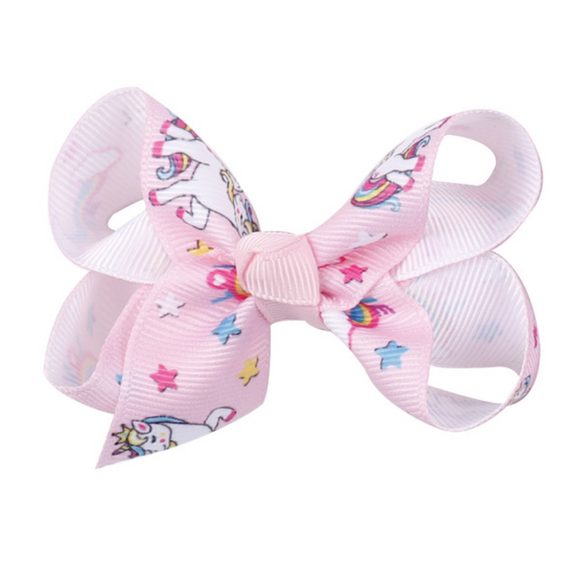 Baby Pink Unicorn - Mini Bow