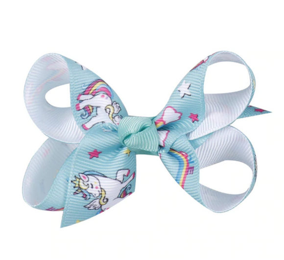 Mint Unicorn - Mini Bow