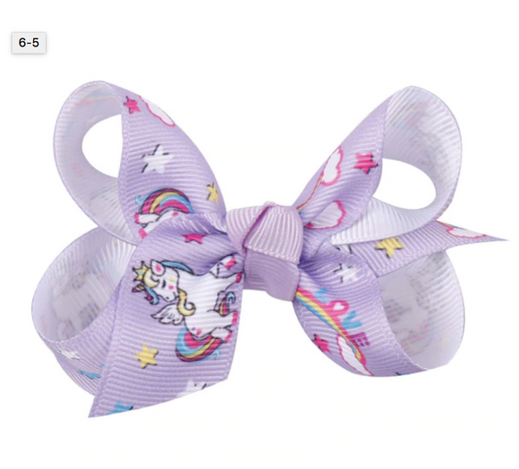 Purple Unicorn - Mini Bow