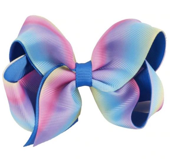 Cool Rainbow Ombre - Small Bow