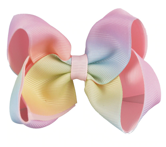 Pastel Rainbow Ombre - Small Bow